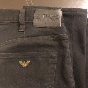 Armani jeans black 32 waist